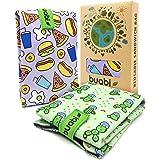Bolsa portabocadillos Reutilizable. 2X Envoltorio Bocadillo, Sandwich, Almuerzo, merienda Infantil y Adultos. Ecológico y sin