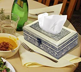 Nisun Attractive And Beautiful Decorative Oxodised Golden Tissue Box/Tissue Holder/Napkin Holder/Napkin Box