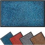 Mibao Dirt Trapper Door Mat for Indoor&outdoor,40x60cm,Blue Black,Washable Barrier Door Mat,Heavy Duty Non-Slip Entrance…