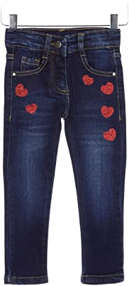 Losan Kinder Mädchen Stretch Jeans Gr.92-122 Glitzer Denim Jeanshose Hose
