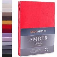 DecoKing Drap-Housse en 100% Coton Peigné Jersey, Amber Collection