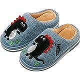 INMINPIN Inverno Pantofole da Casa Bambini Caldo Peluche Pantofola da Invernali Carino Dinosauro Comode Ciabatte Interne di C