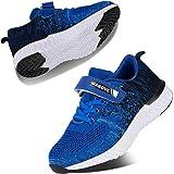 Kyopp Zapatillas Deportivas Niño Niña Velcro de Transpirables Ligero Zapatillas Casual para Running Sneakers Atletismo Talla