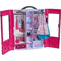 Barbie Fashionistas dressing rose à la taille de la poupée, transportable et fourni avec plus de 15 accessoires, jouet…