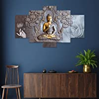 Saumic Craft Set Of 5 Wall Painting With Frame For Home Decoration , Living Room , Spa , Office , Hotel Big Size Wall…