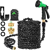 HOSE-PRO Patent Expandable Garden Hose Pipe 100ft with 8 Function, Retractable Water Hosepipe Flexible Expanding…