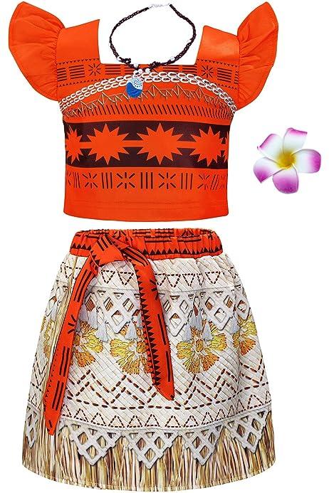 Jurebecia Disfraces De Niñas Moana Vestido de Princesa Traje ...