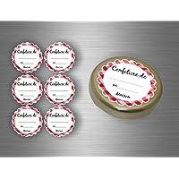 Akachafactory Lot Etiquette Autocollant Sticker Confiture conserves - Lot de 96
