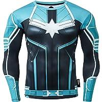 Nessfit Superhero Mens Compressione Top Manica Lunga Palestra Base Layer Allenamento Fitness Shirt Allenamento Maglia…