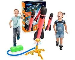 DEVRNEZ Stomp Giocattolo Rocket, Giocattolo del Razzo Giochi all'aperto - Idee Regalo per Bambino