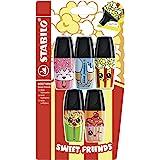 Surligneur- STABILO BOSS MINI Sweet Friends- pack x 5 surligneurs- coloris assortis