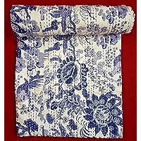 Textile export creations Cotton 142 TC Bed Cover (Queen_Multicolour)