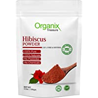 Organix Treasure Pure & Natural Hibiscus Flower Powder for Face Packs and Hair Growth & Care, (100gm)