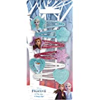 Disney Frozen - Set di 2 accessori per acconciatura Clic Clacs glitterati Elsa/Anna/Olaf, 6 pezzi