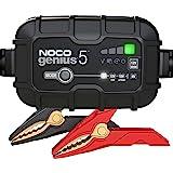 NOCO GENIUS5EU, Chargeur Intelligent Automatique de 5A, Chargeur de Batterie 6V et 12V, Mainteneur de Batterie, Chargeur de M