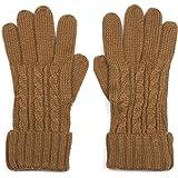 styleBREAKER caldi guanti con motivo intrecciato e doppio orlo, guanti invernali in maglia, donna 09010009