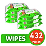 BeyBee : Cucumber and Aloe Vera Wet Wipes for Babies and Adults Combo Offer Pack of 6 (432 Wipes)