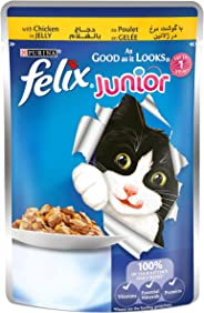 Purina Felix Junior As Good as it Looks Chicken Wet Cat Food Pouch 100g