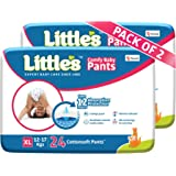 Little's Baby Pants Diapers with Wetness Indicator and 12 Hours Absorption |Extra Large 48 Count|