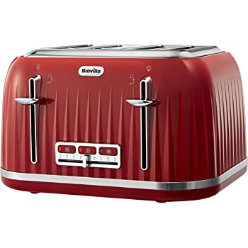 cb3757df9ce8 Breville VTT783 Impressions 4 Slice Toaster - Red: Amazon.co.uk ...