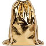 styleBREAKER Turnbeutel im Metallic Look, Sportbeutel, Rucksack, Beutel, Unisex 02012117, Farbe:Gold Metallic
