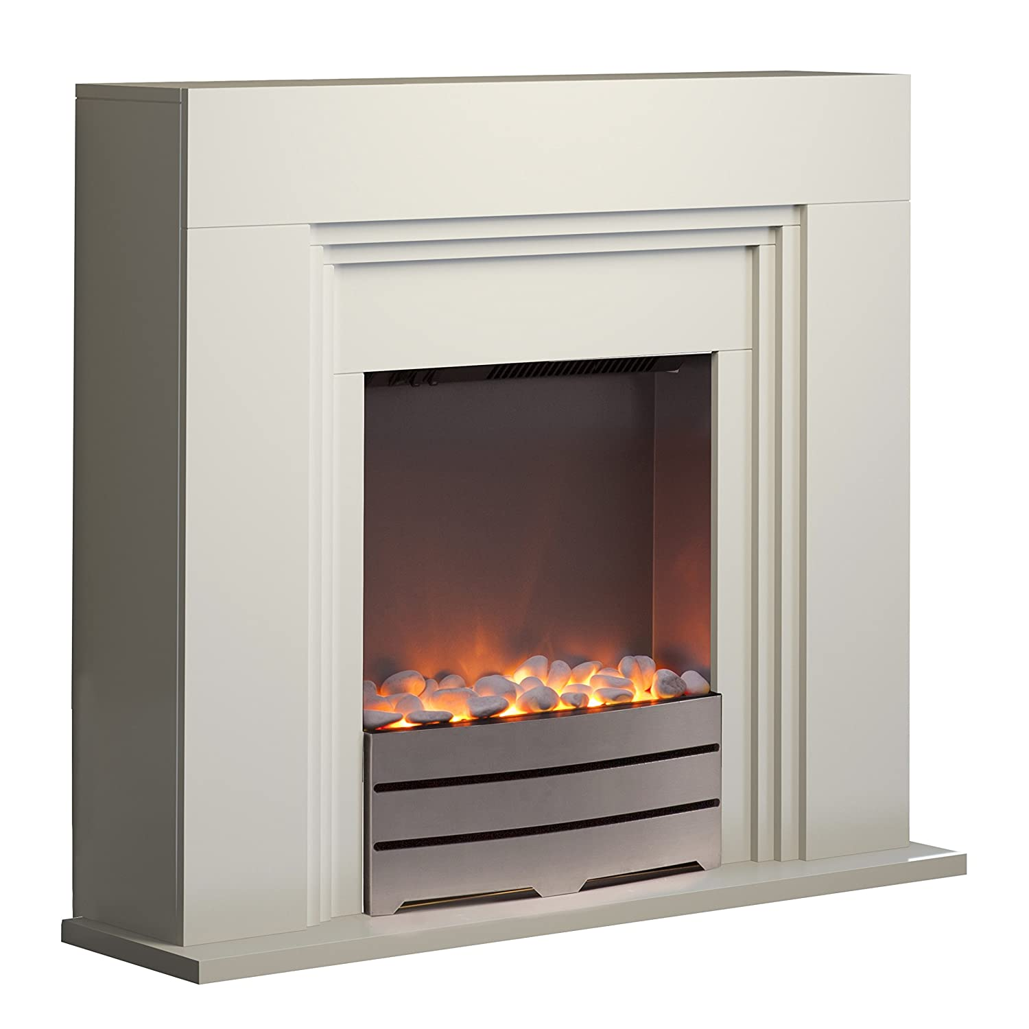 warmlite wl45023 bluetooth fireplace suite with led flame effect