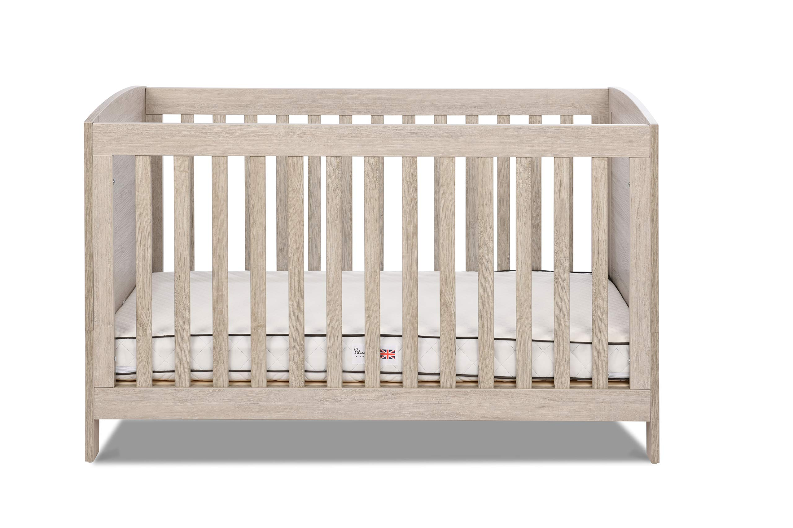 Silver Cross New England Cot Bed and Wardrobe Silver Cross 3 base height positions Suitable from birth to 4 years Converts into toddler bed 2