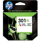 HP CH564EE 301XL High Yield Original Ink Cartridge, Tri-color, Single Pack