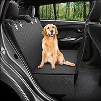 PETSHUB's Dog Back Seat & Trunk Cover Protector for Hatchbacks, Sedans & SUVs - Waterproof & Nonslip(Black)