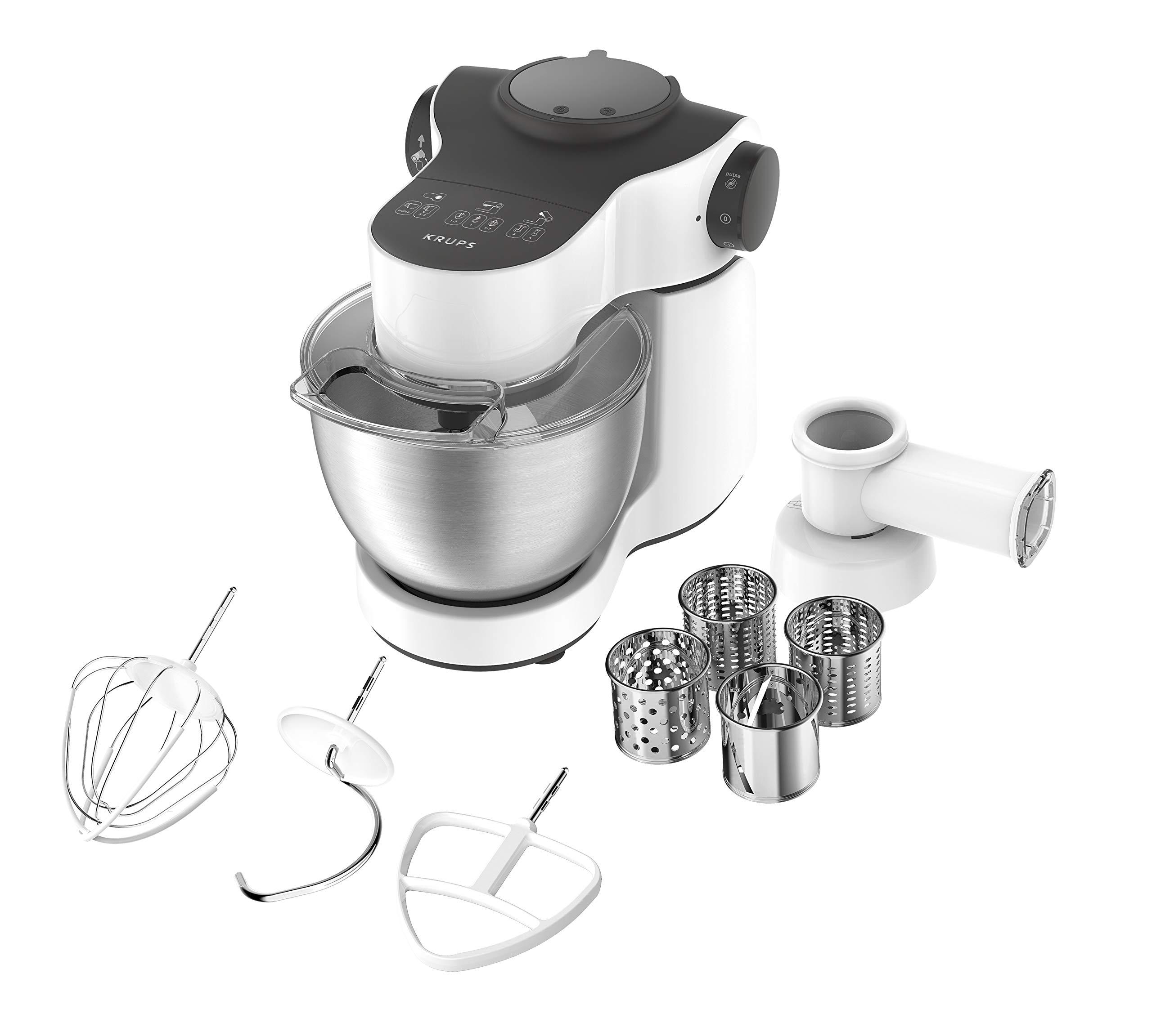 Krups-KA3121-Master-Perfect-Kchenmaschine-1000-Watt-Gesamtvolumen-4-Liter-inkl-Back-Set-Aufsatz-Schnitzelwerk-mit-Reibekucheneinsatz-wei