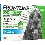 FRONTLINE Combo Chien - Anti-puces et anti-tiques pour chien - 10-20kg - 4 pipettes
