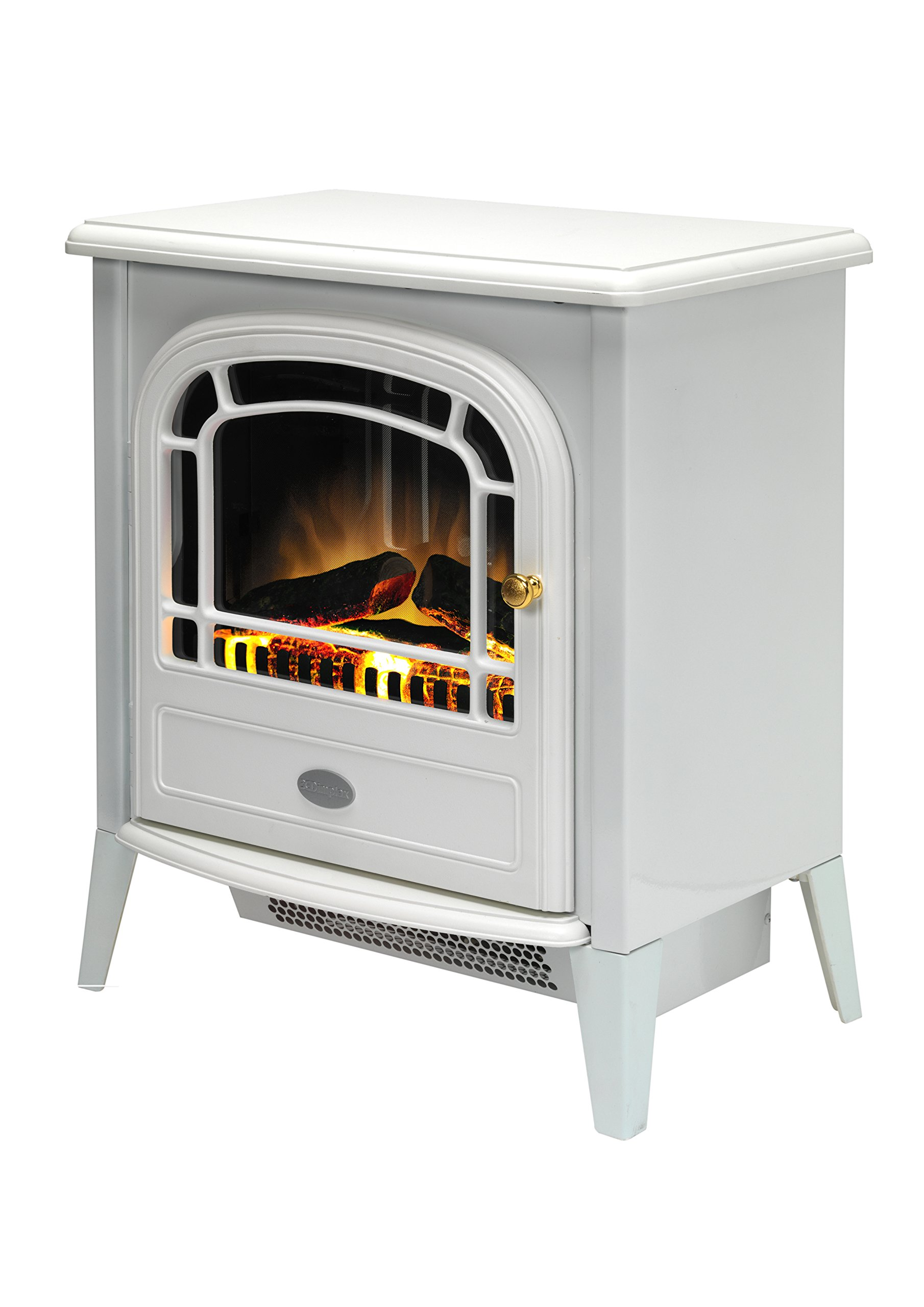81oEhQdZtLL - Dimplex CVL20E Courchevel Electric Stove with Optiflame Effect, 2 kW, 230 W, White