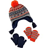 Simple Joys by Carter's Hat and Mitten Set Bebé-Niños, Pack de 3