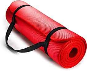 Yoga and Exercise Mat ExtraThick NBR Foam Mat with Carrying Strap by The True Mat (10mm Thick; XL Size: 6 Feet x 2 Feet)
