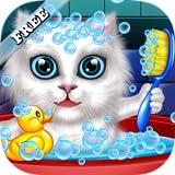 Lavar y tratar a las mascotas: ayudar a los gatos y cachorros! juego educativo libre para niños...