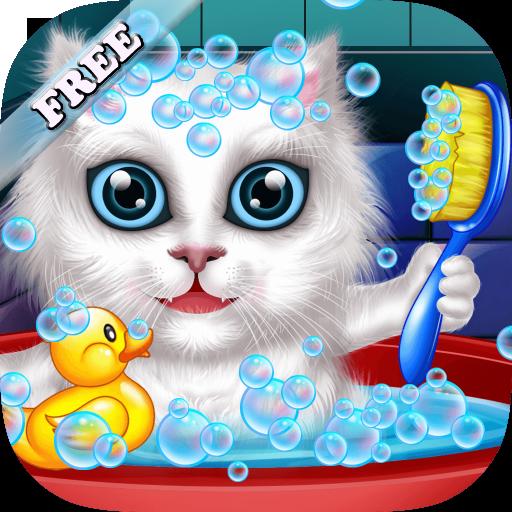 Waschen und behandeln Haustiere: helfen Katzen und Welpen! Lernspiel für Kinder - Beste Spiele KOSTENLOS