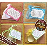 20 Pack   Baby Shower Candles   Pink Blue Neutral Yellow Green   Gift Present Favour