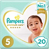 Pampers Premium Care, Size 5, Junior, 11-16 kg, Mid Pack, 20 Diapers