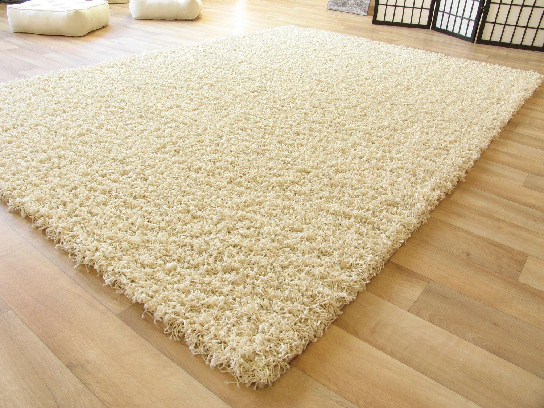 Shaggy hochflor teppich funny langflor teppich in beige mit Öko ...