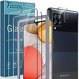 TOCOL 4 Piezas Protector de Pantalla para Samsung Galaxy A42 5G 2 Piezas Cristal Templado y 2 Piezas Protector de Lente de cá
