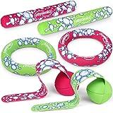 Physionics Schwimmspielzeug für Groß und Klein | Spielzeugset aus 2 Tauchstäben, 2 Tauchringe und 2 Tauchbälle mit Schweif | Diving Set, Tauchspielzeug