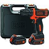 BLACK+DECKER BDCDD12KB-QW Perceuse-Visseuse sans fil - 10,8 V - 1,5 Ah - 26 Nm - 2 batteries - Livrée en coffret