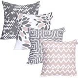 Marque Amazon-UMI- Lot de 4Housses décoratives pour Coussins carrés, au Toucher Doux, pour canapé, Chambre ou Voiture, 45,7
