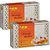 Haldiram's Nagpur Orange Burfee 500 Grams (Pack of 2).