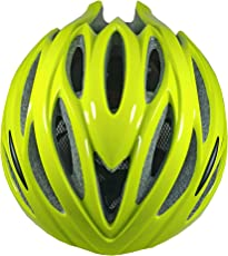 YONKER Cycling Helmet DELTA with Adjuster SENIOR SIZE (GREEN) With Attractive LED Light
