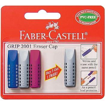 Select Color Mix Faber-Castell Grip 2001 Color Eraser Rubber Pencil Cap