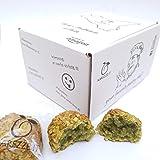 Paste di mandorla siciliane al PISTACCHIO con granella, in grazioso box regalo (gr. 400). RAREZZE: prodotti tipici siciliani,