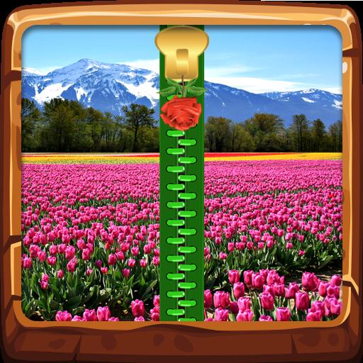 New Spring Zipper Lock Screen