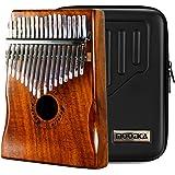 Moozica 17 touches Kalimba, Professionnel De Haute Qualité Doigt Pouce Piano Instrument de Musique Cadeau (Koa Tone Bois-K17K