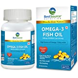 BestSource Nutrition's Omega-3 Fish Oil (Natural EPA & DHA), Free from Heavy Metals, PCBs, & Dioxins, No fishy smell, No burp